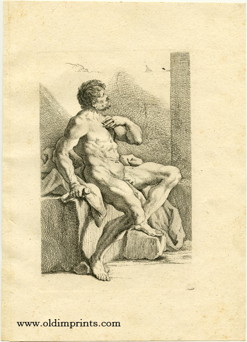 Untitled male nude study. RIDINGER.