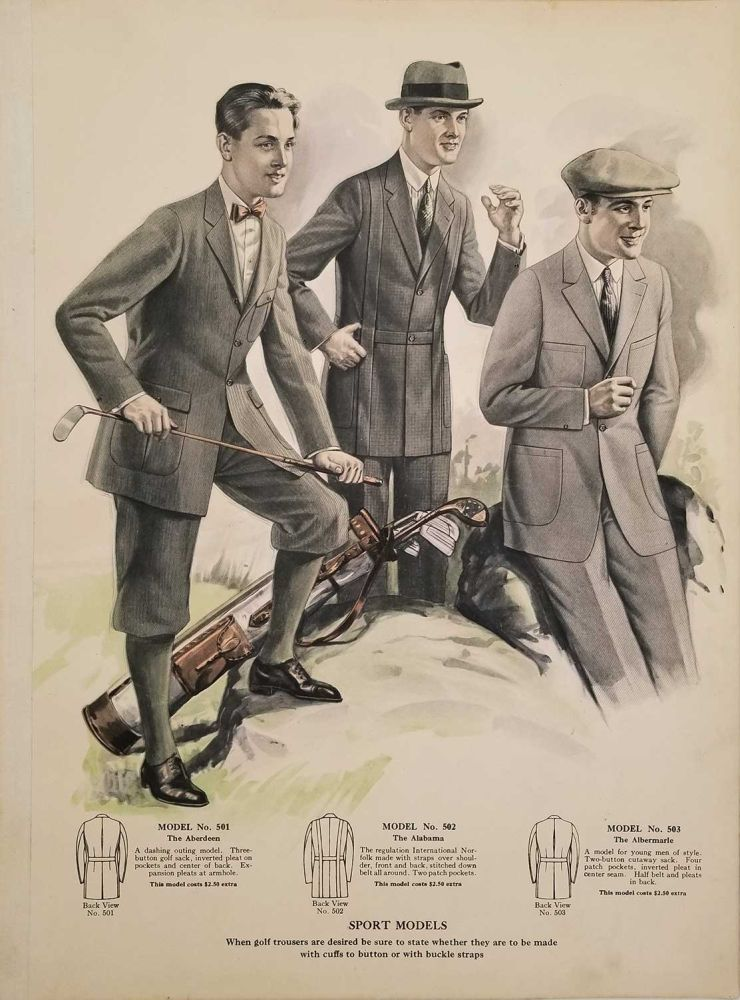 New Spring & Summer Styles for Men. 1920s MEN'S FASHION - SHOP DISPLAY CATALOGUE.