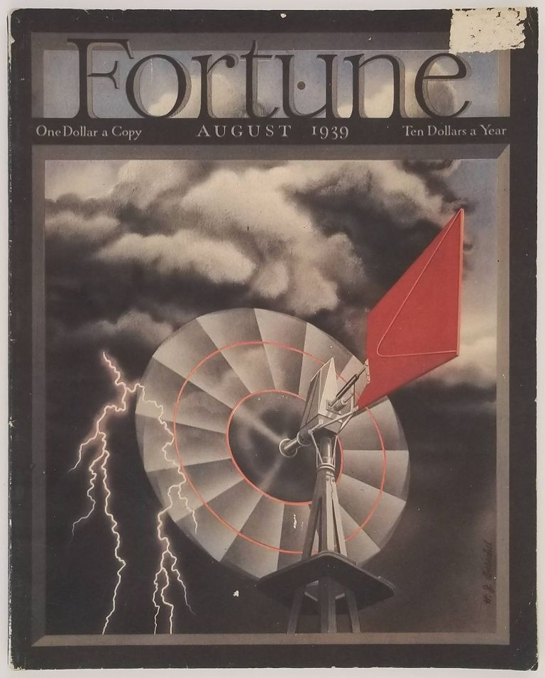 """Fortune Magazine. August 1939. [including persuasive map """"Geography for the G.O.P."""" by Erik Nitsche]. LONG ISLAND / REPUBLICAN PARTY."""