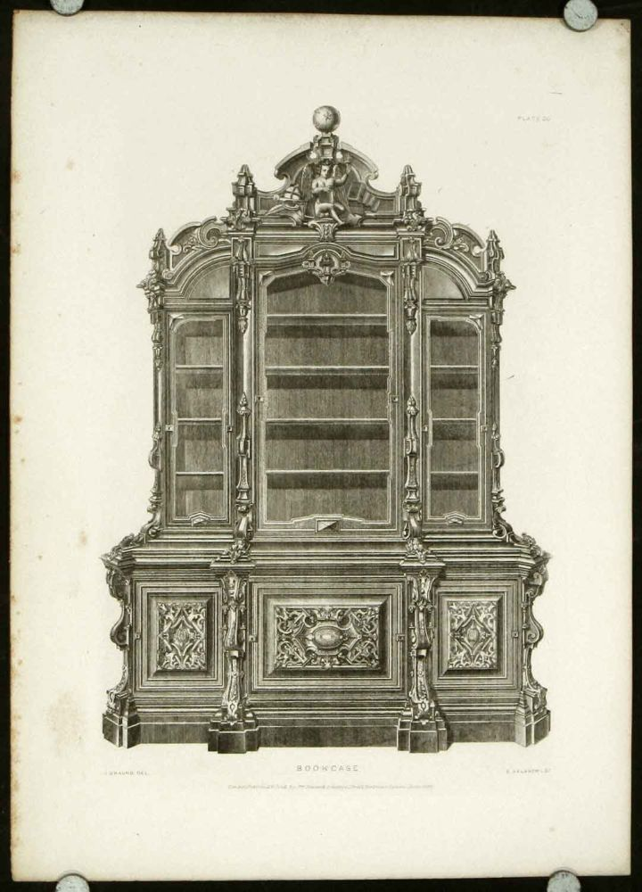 Illustrations of Furniture, Candelabra, Musical Instruments from the Great Exhibitions of London & Paris with Examples of Similar Articles from Royal Palaces and Noble Mansions. INTERIOR DESIGN MID 19TH CENTURY, J. Braund.