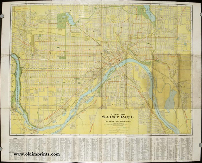 Saint Paul in Summer Time. Scenic Beauty Trips Bathing Fishing Every Outdoor Recreation. Where to Go and How. Map title: City of Saint Paul. MINNESOTA - SAINT PAUL.