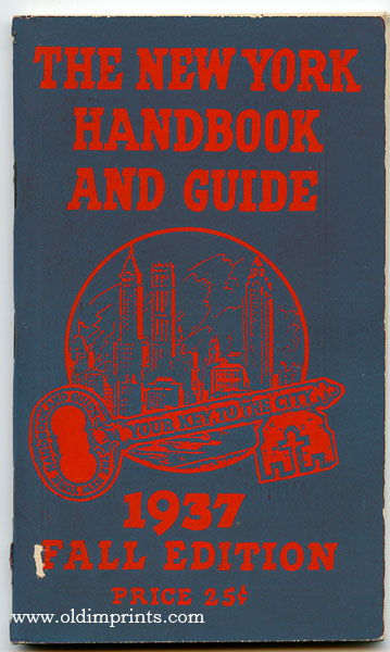 The New York Handbook and Guide. 1937 Fall Edition