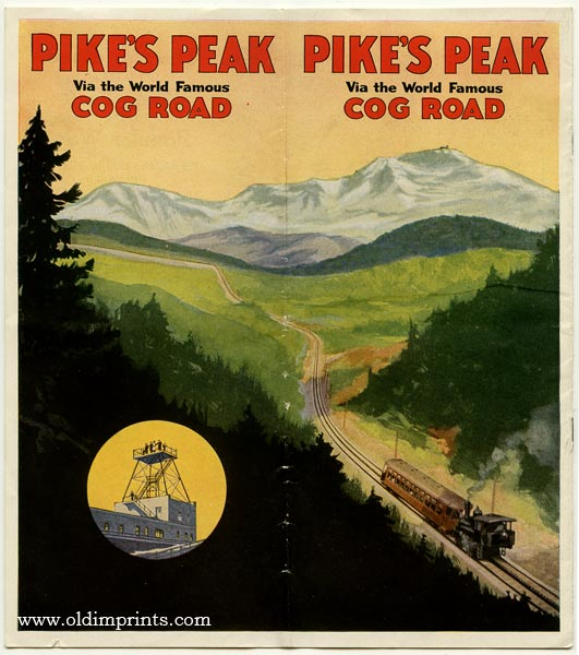 Pike's Peak Via the World Famous Cog Road. COLORADO.