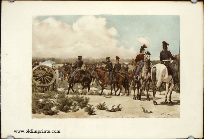 Field Artillery. Major Ringold Directing the Operations of His Battery, Palo Alto, May 8, 1846. UNITED STATES.