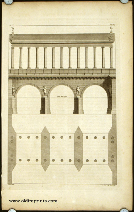 Diagram of a Roman aqueduct (?) Super dell'Acqua. ROMAN ARCHITECTURE.