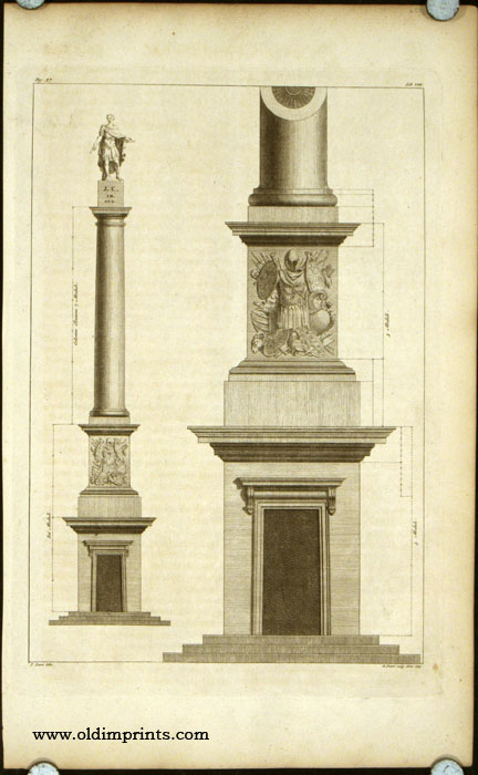 Diagram of a Roman Column (Julius Caesar). ROMAN ARCHITECTURE.