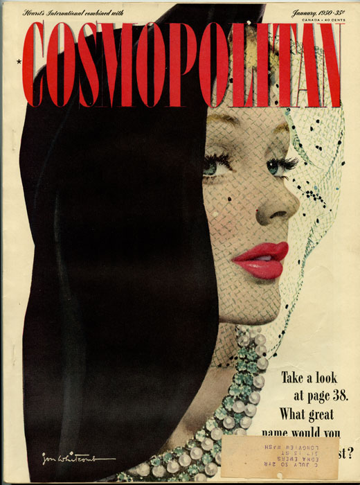 Hearst's International combined with Cosmopolitan. 1950 - 01. DISNEY, Dorothy M. Johnson, Walter Winchell.