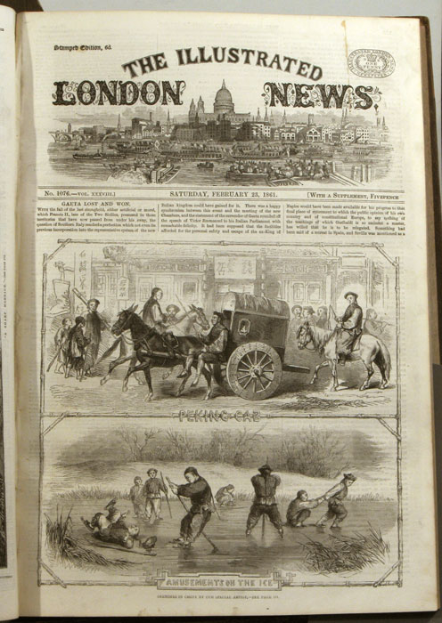The Illustrated London News. 1861 - (01 - 12). January to December. BOUND IN TWO VOLUMES