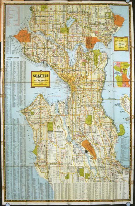 For the Pocket. Seattle Guide Map. WASHINGTON - SEATTLE.