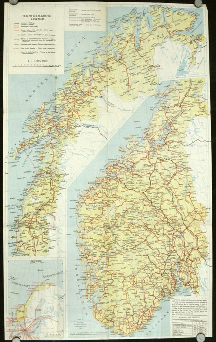 Tourist Map of Norway. NORWAY.