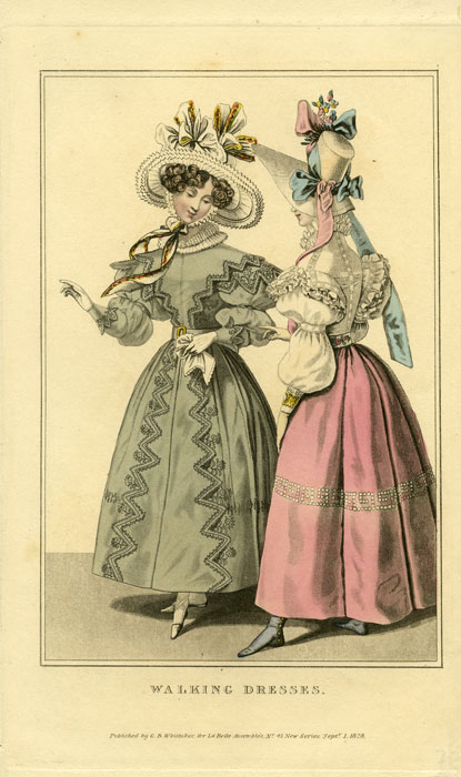 Walking Dresses. 1820s FASHION.