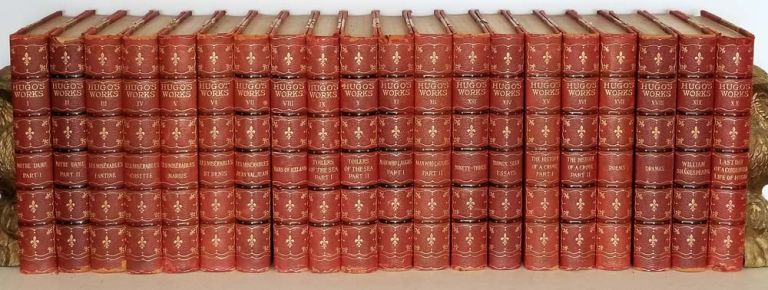 The Works of Victor Hugo. (Limited Edition Set of Twenty Volumes). DECORATIVE BINDING, Victor. Introduction Hugo, Critical, Robert Louis Stevenson.