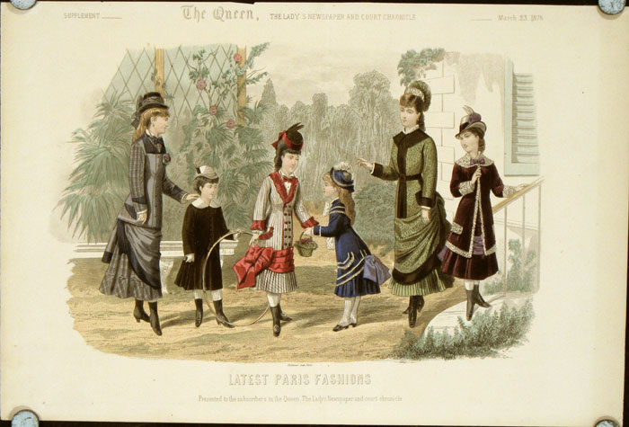 Latest Paris Fashions. Supplement - The Queen, The Lady's Newspaper and Court Chronicle. 1878 - 03 - 23 (March). 1870s FASHION.