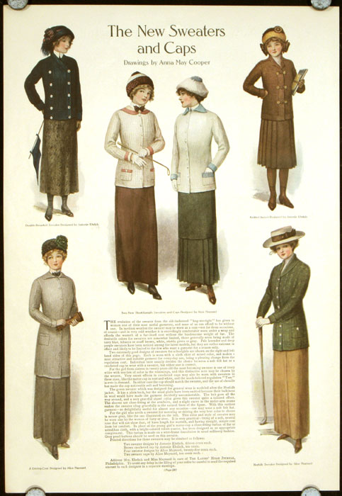 The New Sweaters and Caps. 1910s FASHION - GOLF.