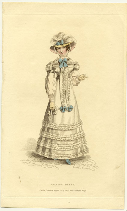 Walking Dress. 1820s FASHION.