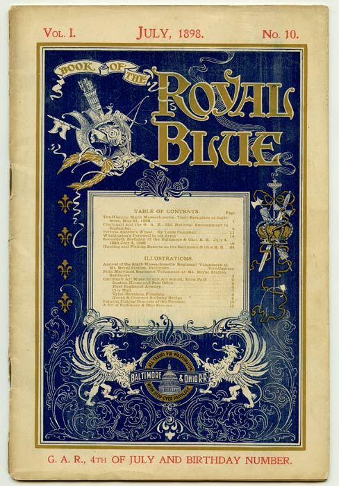 Book of the Royal Blue. 1898 - 07 (July). B, O RAILROAD.