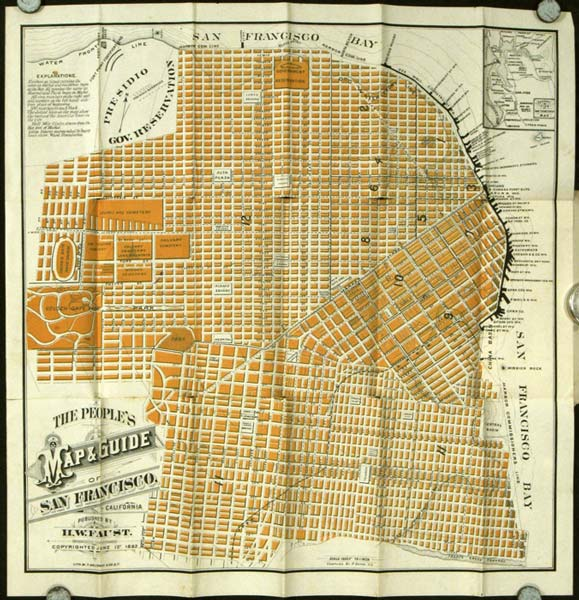 The People's Map and Guide of San Francisco. (Map title: The People's Map & Guide of San Francisco California.). CALIFORNIA - SAN FRANCISCO.