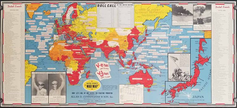 Dated Events War Map. V-e Day May 8, 1945. V.J Day Sept. 2, 1945. WORLD - WORLD WAR II.
