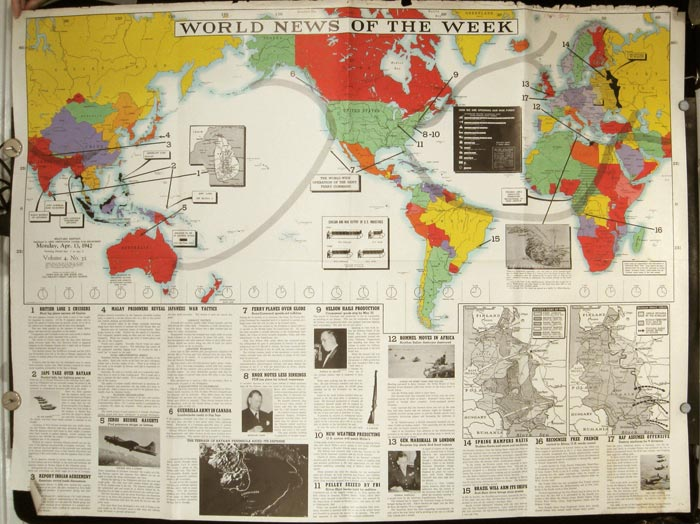 World News of the Week. Monday, Apr. 13, 1942. Covering period Apr. 3 to Apr. 9. Military Edition.