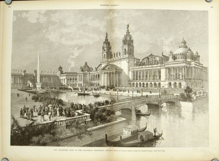Columbian Exposition: Four Complete Issues of Harper's Weekly: 1891. COLUMBIAN EXPOSITION / CHICAGO.