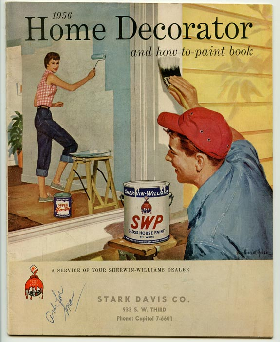 1956 Home Decorator and how-to-paint book. PAINT / DECORATING.