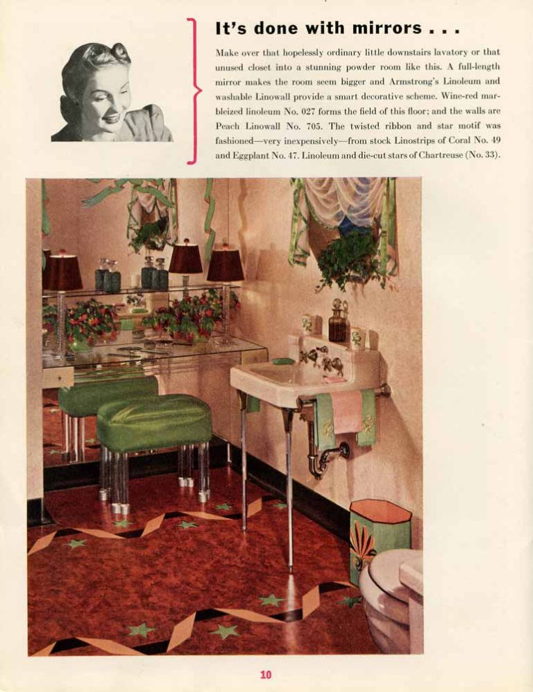 Tomorrow's Ideas in Home Decoration. FLOOR COVERINGS - ARMSTRONG DECO TILES.