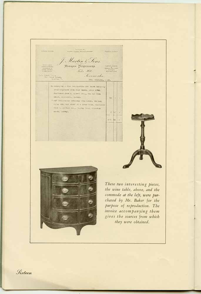 A Guide to English and French Furniture of the Eighteenth Century. FURNITURE AND ACCESSORIES - VINTAGE BOOKLET.