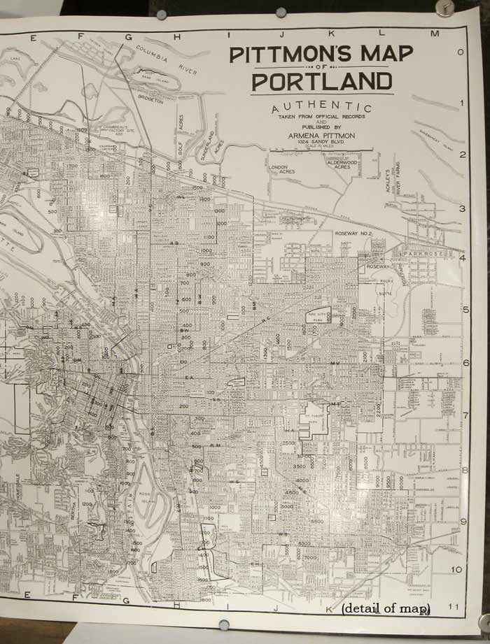 Pittmon's Map of Portland Authentic Taken from Official Records. OREGON - PORTLAND.