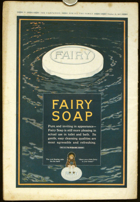 The Youth's Companion. 1917 - 10 - 18 (October) with color Fairy Soap advertisement on back cover and color Colgate advertisement featuring boy scouts on the front cover. ADVERTISING.