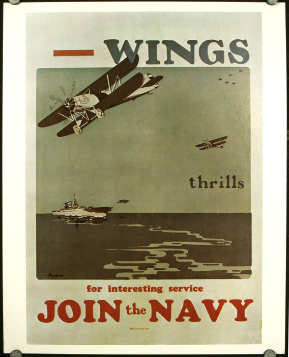 """U.S. Navy Recruiting Posters. Set of 20. [Incl """"Yangtze River Gunboats,"""" """"The Navy Needs You! Don't Read American History - Make It!"""" """"Sky Ships"""" (1931) and """"What the Navy is Doing - Be a Submariner"""" UNITED STATES NAVY POSTERS."""