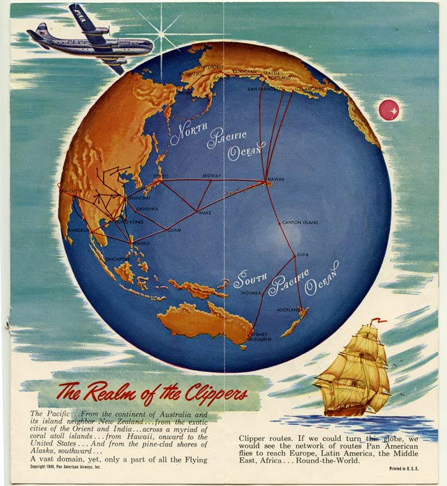 Fly by Clipper to Hawaii. Pan American World Airways The System of the Flying Clippers. PAN AM - HAWAII.
