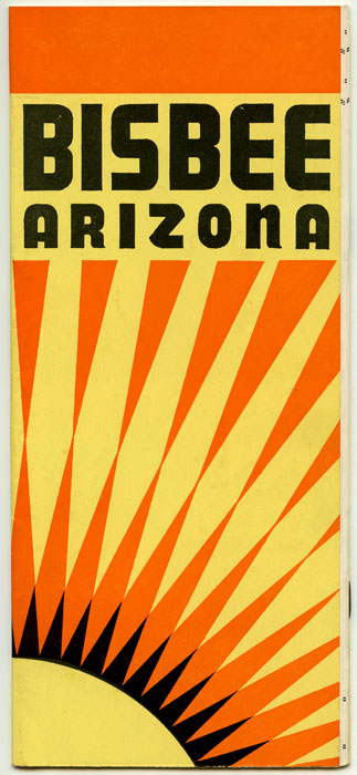 Bisbee Arizona. ARIZONA - PROMOTIONAL BOOKLET.
