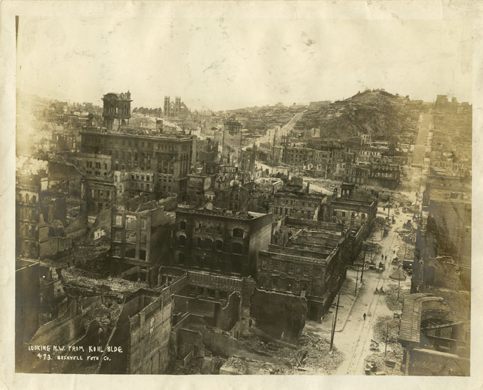Photograph of San Francisco, California. Looking N.W. from the Kohl Building. CALIFORNIA - SAN FRANCISCO.
