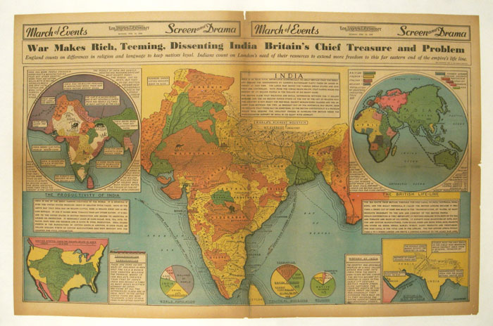 War Makes Rich, Teeming, Dissenting India Britain's Chief Treasure and Problem. INDIA.