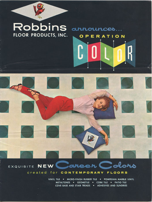 Robbins Floor Products, Inc. Announces Operation Color. FLOOR COVERINGS - ROBBINS RUBBER TILES.