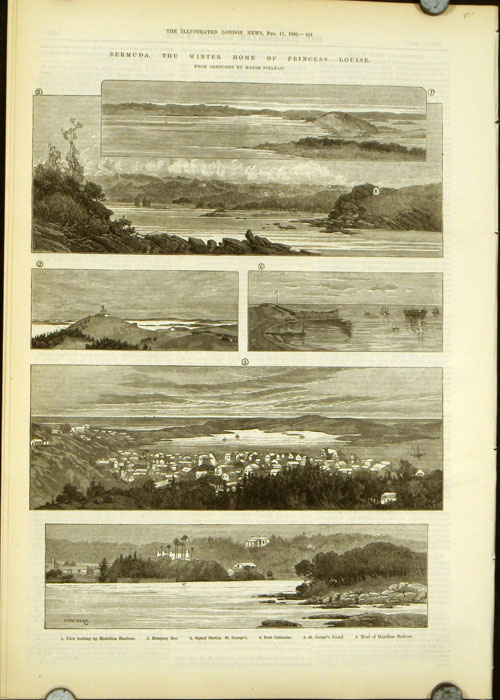 Bermuda, the Winter Home of Princess Louise. From Sketches by Major Pilleau. BERMUDA.