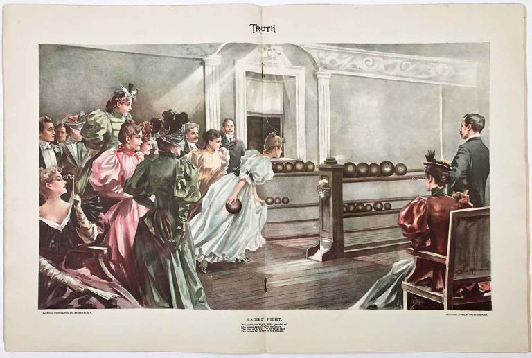 Ladies' Night (IN COMPLETE ISSUE OF Truth magazine February 1, 1896). BOWLING.