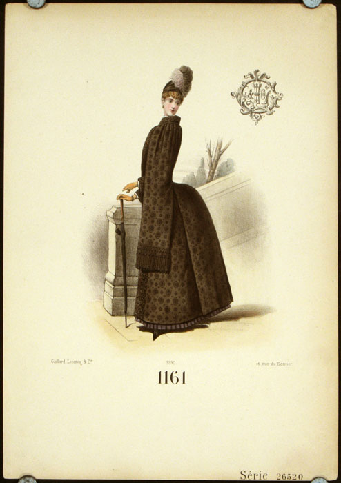 1161 Serie 26520 (Handcolored fashion lithograph from the Gaillard, Lecomte company). 1880s FASHION - FRANCE.