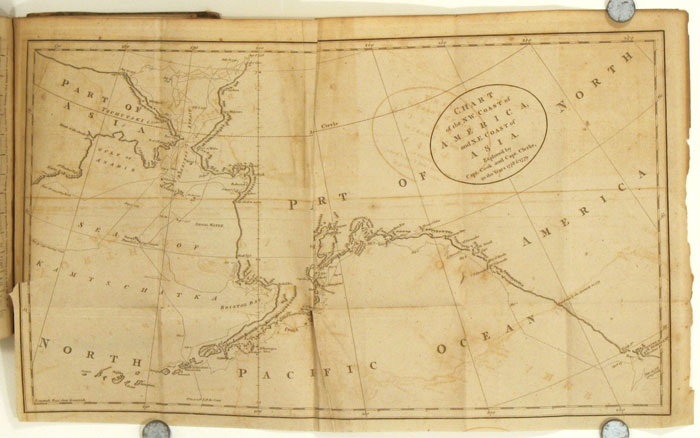 The Universal Magazine (of Knowledge and Pleasure). 1784 (July through December). ALASKA - CAPTAIN JAMES COOK'S VOYAGES WITH MAP OF ALASKA BEFORE IT WAS ALASKA.
