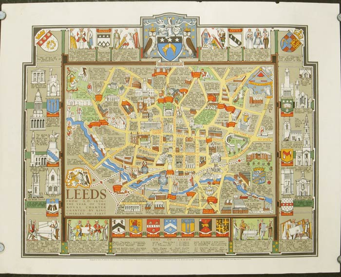 Leeds from A.D. 1625 - The Year of the Royal Charter Granted by King Charles the First. ENGLAND - LEEDS.