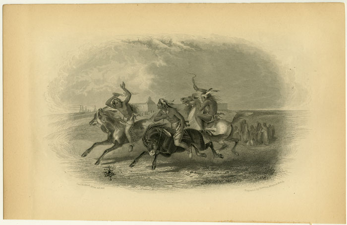 [ Horse Racing of the Sioux ]. NATIVE AMERICAN INDIANS.