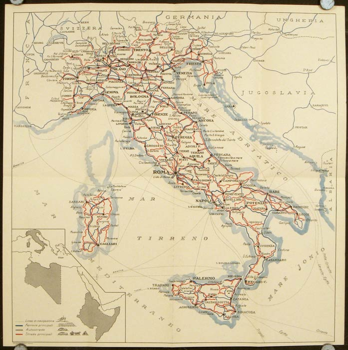 For your trip to Italy consult this map which will be a valuable guide in planning your itinerary. ITALY.