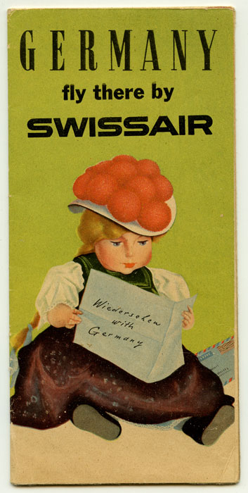 Germany fly there by Swissair. (Wiedersehen with Germany). SWISS AIR - GERMANY.