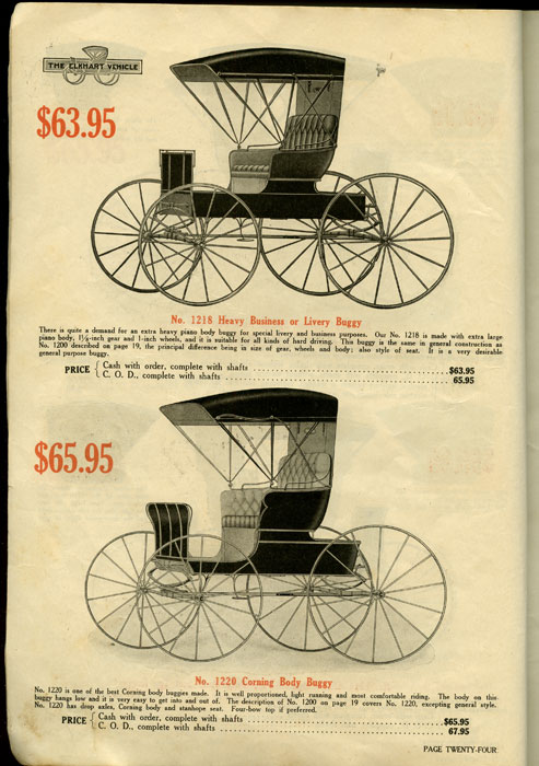 Elkhart Carriage & Harness Mfg. Co. CATALOG - CARRIAGES.