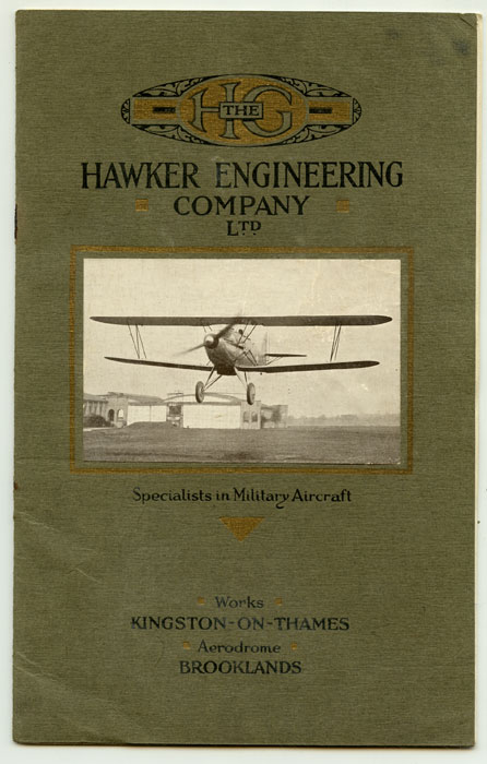 Military Aircraft of All Types. AVIATION / MILITARY, Ltd H. G. Hawker Engineering Company.
