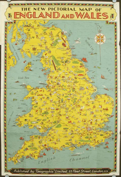 The New Pictorial Map of England and Wales. ENGLAND, WALES.