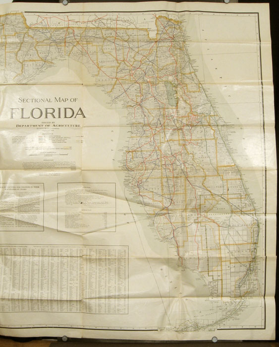Sectional Map of Florida. FLORIDA, Nathan Mayo.