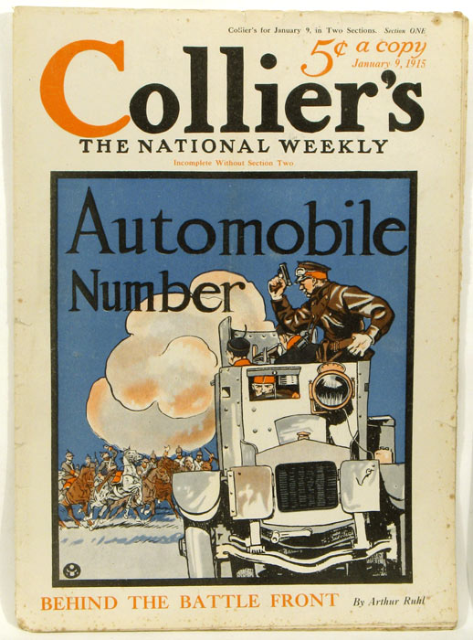 Collier's. The National Weekly. 1915, January 9. Section ONE only. AUTOMOBILES.