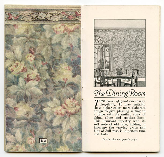Niagara Wall Papers: Some Latest Styles Carefully Selected for Tasteful Homes. INTERIOR DECOR - WALL PAPER CATALOG.