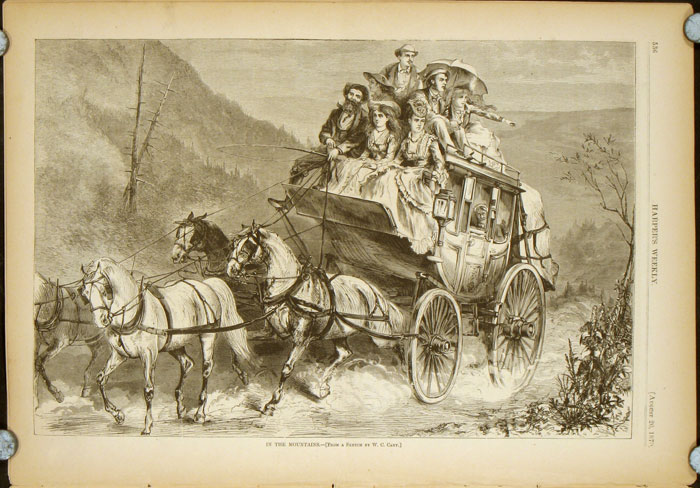Harper's Weekly. COMPLETE ISSUE, Front cover illustration: French Commanders. WESTERN AMERICANA / STAGE COACH.